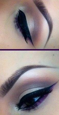 Cool eyeshadow, bit futuristic!