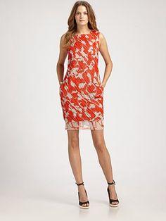 Diane von Furstenberg - Akeelah Ruched Chiffon Dress - Saks.com