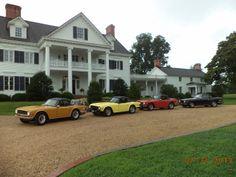 Classic cars at the Inn at Warner Hall, Gloucester, Va. http://www.warnerhall.com