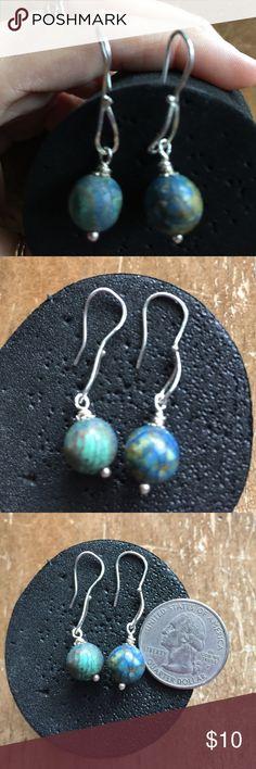 Earrings Sterling silver solid 925 authentic stone Earrings Sterling silver solid 925 and stones Jewelry Earrings