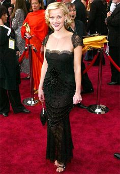 """Reese Witherspoon, 2002  Reese Witherspoon stole the spotlight at her Academy Awards debut, thanks to a Valentino makeover. """"It was her first time presenting and Reese wasn't as established back then,"""" the designer told InStyle. """"People thought of her as cute, but not glamorous."""""""