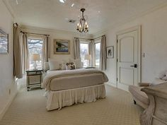 Though small, this bedroom is a great example of a classically designed, elegant bedroom.
