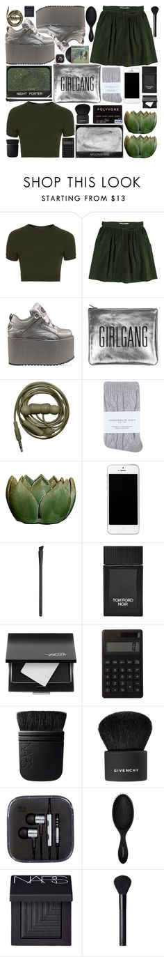 """Untitled #492"" by inkcoherent ❤ liked on Polyvore featuring Topshop, Opening Ceremony, Buffalo, Johnstons, NARS Cosmetics, Tom Ford, Trish McEvoy, Muji, Givenchy and Sephora Collection"