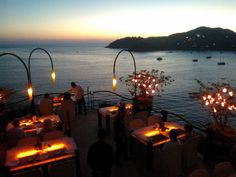 """""""Possibly the best experience we've had in Zihua""""  This restaurant is so wonderful that it almost defies description. The food is wonderful, the ambiance is beautiful, the views are breathtaking and the service is amazing. The setting is extremely romantic. It's truly an experience not to miss - and worth every penny! #Espuma Restaurant #Zihuatanejo #Mexico"""