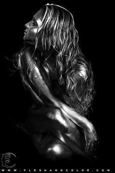 Metallic & Silver Body Painting Art - Dewayne Flowers.