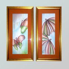 Pintura Pastel, mariposas
