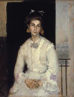 Jeune Fille, 1910 // by Romaine Brooks Romaine Brooks, Female Images, Female Art, James Abbott Mcneill Whistler, English Girls, Portraits, Portrait Paintings, Art For Art Sake, American Artists