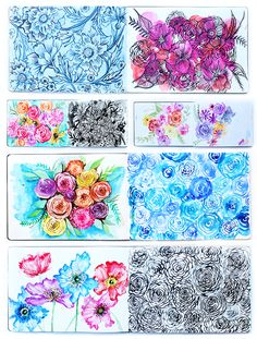 Sketchbook I've been working daily on filling my Moleskin watercolor journal and recently I was able to fill all 60 pages. In this journal, I cha. Watercolor Journal, Watercolor Illustration, Alisa Burke, Painting & Drawing, Finger Painting, Gouache Painting, Arte Floral, Floral Illustrations, Art Journal Inspiration