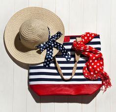 so nautical and patriotic Floppy Hats, Nautical Looks, Beach Essentials, Love Hat, Beach Accessories, Nautical Fashion, Vogue Fashion, Red White Blue, Summer Time