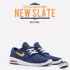 "RESTOCK! Nike Stefan Janoski Max ""NEW SLATE""   BE QUICK!!   www.sneakerbaas.nl   #NIKE #JANOSKI #MAX #RESTOCK"