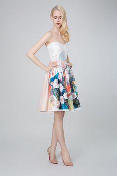 SADONI evening dress ZOFIA in fashionable flower print