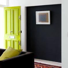 Modern hallway with blocks of bold colour | 20 ways with paint | Decorating ideas | PHOTO GALLERY | Housetohome.co.uk