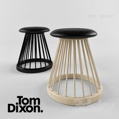 Fan Stool - a dramatic and sculptural take on the traditional British Windsor Chair