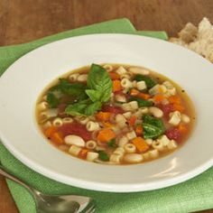 Classic Minestrone Soup Recipe Soups with vegetable oil, onions, carrots, diced tomatoes, white cannellini beans, water, knorr homestyl stock   chicken, baby spinach leaves, ditalini pasta