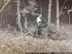 A friend of a friend was going through his photos from last year's hunting season and found this pic. He says the trail cam is activated by movement yet there were no pics of the entity anywhere else except in this photo. If it were a person there would have been several photos where the person entered into the vision field of the camera, yet only this photo was taken. The area in which this photo was taken is on private hunting property miles from any residential areas in Northern Michigan.
