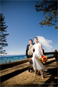 Christine And Tony Chose A Wedding Location That Was Dear To Them Lake Tahoe Places Get