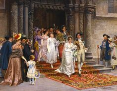 Johann Hamza (Austrian, 1850 - 1927) -The Wedding