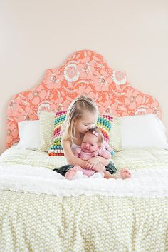 sweet sisters - and love the headboard diy