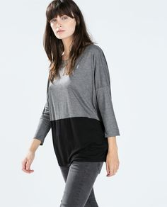 Image 2 of 3/2 SLEEVE T-SHIRT from Zara