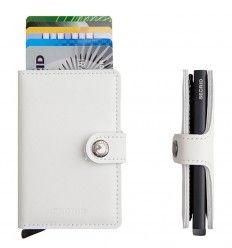 Flot hvid Secrid kortholder - miniwallet Limited White-Black