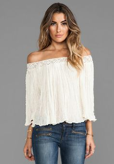 Jen's Pirate Booty Off the Shoulder Top #boho #offshoulder #lace