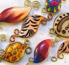Desiree's Polymer Clay Gallery -- Loose Beads  Great inspirations!