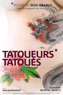 """Affiche de l'exposition """"Tatoueurs, tatoués"""" - Cliquer pour agrandir, ouverture dans une nouvelle fenêtre"""
