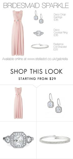 """""""Bridesmaid Sparkle"""" by gabrielladriver on Polyvore featuring Phase Eight, Stella & Dot, women's clothing, women's fashion, women, female, woman, misses and juniors"""