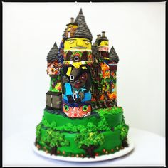 Kelburn Castle Cake! Bolo do Castelo de Kelburn! by Carla Ikeda - DENTRO DO FORNO - BOLOS DECORADOS - , via Flickr