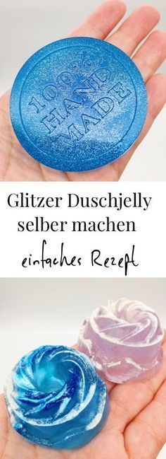 Anti-Stress Duschjelly selber machen - einfache Rezept für Dusch Jelly DIY cosmetics: So you can make yourself an anti stress shower jelly yourself. Simple recipe and instructions for homemade Duschje Shower Jellies Diy, Bath Jellies, Homemade Shower Gel, Presents For Her, Glitter, Diy Beauty, Beauty Tips, Beauty Care, Beauty Hacks