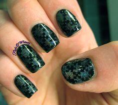 chromatic sparkles on black