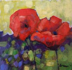 """Daily Paintworks - """"poppies"""" - Original Fine Art for Sale - © salvatore greco"""