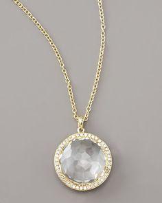 Clear+Quartz+Pendant+Necklace+by+Ippolita+at+Neiman+Marcus. $200