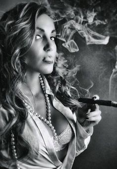 Most of us will agree that there is a particular allure of a woman smoking a cigar! Women smoking cigars might be a less common sight than men. Cigars And Women, Women Smoking Cigars, Smoking Ladies, Cigar Smoking, Girl Smoking, Women Smoking Cigarettes, Good Cigars, Cigars And Whiskey, Cuban Cigars