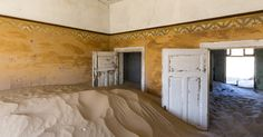 Sand filled houses of Kolmanskop, Namibia. #namibia #luxurytravel