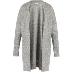 Acne Studios Raya short oversized cardigan (5.482.520 IDR) ❤ liked on Polyvore featuring tops, cardigans, sweaters, grey, grey cardigan, grey knit cardigan, short-sleeve cardigan, knit cardigan and gray oversized cardigan