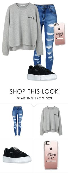 """""""First Page"""" by rose-766 ❤ liked on Polyvore featuring WithChic, MANGO, Puma and Casetify"""
