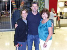 Knew it was gonna be a good trip when we met Patrick Dempsey at the Indianapolis International Airport!