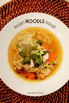 lizzy writes: asian noodle soup