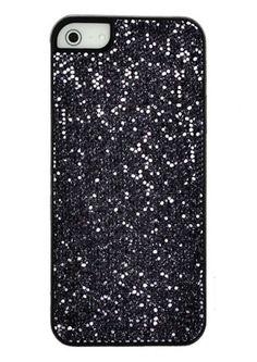 Silver/Black Glitter Case