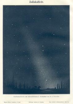 Designspiration — ZODIACAL LIGHT,1890s Astronomy Print