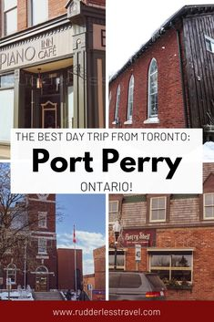 Port Perry, Ontario is one of the best day trips from Toronto Canada. This small town holds a local authentic charm and is as Canadian as it gets! #Canada #Travel #Ontario Travel Guides, Travel Tips, Travel Destinations, Travel Photos, America And Canada, North America, Toronto Travel, Canadian Travel, Visit Canada