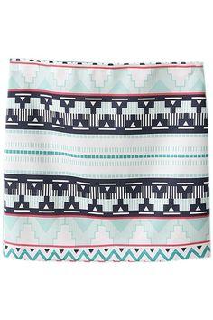 ROMWE | Striped Floral Print Elastic White Skirt, The Latest Street Fashion #ROMWE.