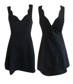 Scalloped Fit & Flare Dress, $39 #shoppitaya