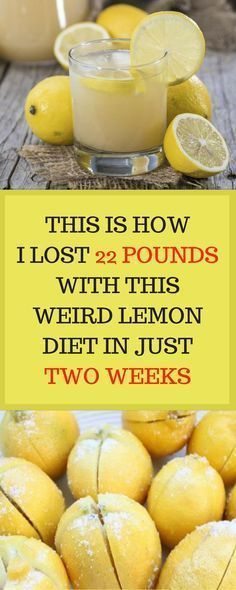 Lemon Diet: Lose 22 Pounds in 2 weeks