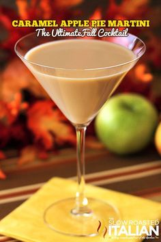 Caramel Apple Pie MArtini and a Fall Party #recipe #cocktails @SlowRoasted #ad