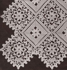 Vintage-Crochet-PATTERN-to-make-Block-Lace-Flower-Bedspread-Motif-Pillow-BlockLa
