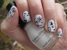 Get Nailed With Miss Pop: 7 Awesome Back-To-School Nail Art Designs Notebook Nails – The Frisky