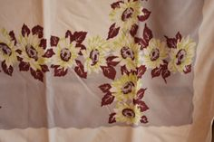 Vintage 1950s SUNFLOWER Retro Tablecloth by TrueValueVintage, $28.00