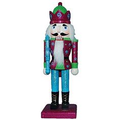 Christmas Nutcracker Figure Soldier Mardi Gras King Purple With Light Blue Sparkle 10 inch Exclusive Design *** This is an Amazon Affiliate link. Check this awesome product by going to the link at the image.